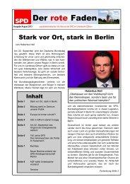 Der rote Faden, Ausgabe 8/13 - SPD Unterbezirk Gifhorn