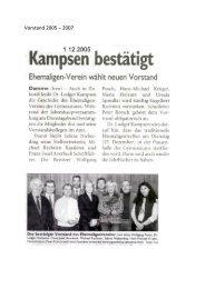 Vorstand 2005 – 2007 - Ehemalige Gymnasium Damme