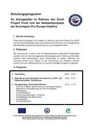 Schulungsprogramm Fo 130110 - Viadrina