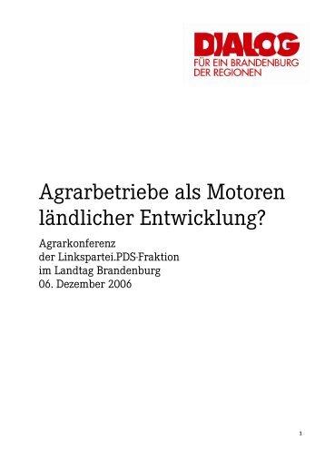 Agrarbetriebe als Motoren ländlicher Entwicklung? - Kornelia Wehlan