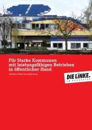 Leitfaden Rekommunalisierung - DIE LINKE.Stadtverband Chemnitz