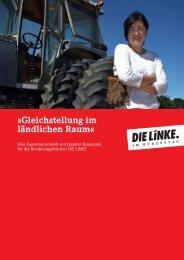 Expertise: Gleichstellung im ländlichen Raum