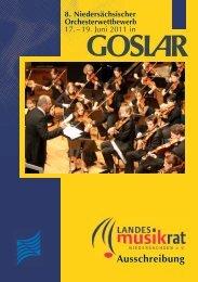 Ausschreibung Niedersächsischer Orchesterwettbewerb 2011