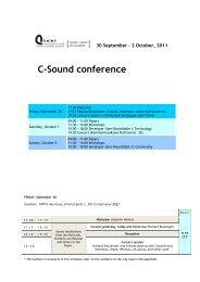 C-Sound conference, 30 September – 2 October 2011