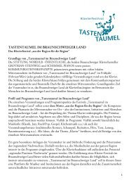 Tastentaumel Profil 2014