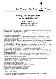 Mittwoch, 17.11.2010 - Buß- und Bettag - der Braunschweiger Dom