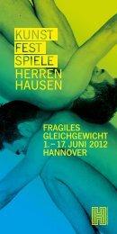 KunstFestSpiele Herrenhausen 2012:Programm - Incontri