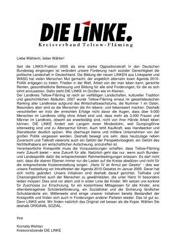 Wahlprogramm als pdf-Datei - Kornelia Wehlan