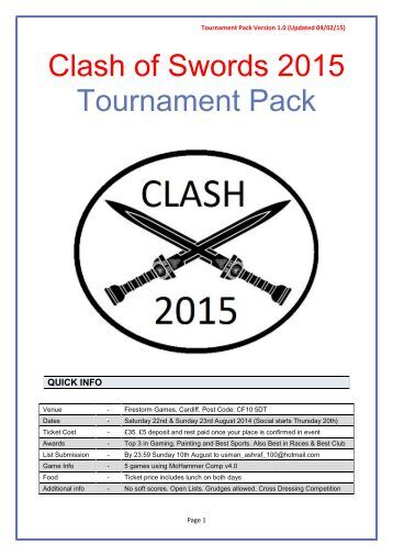 Tournament Pack 2015 v1.0