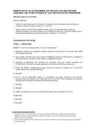 arrêté royal du 20 décembre 2007 relatif aux obligations linéaires ...