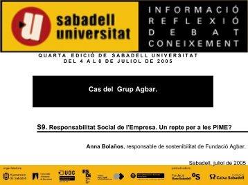 Accés a la ponència en format PDF (1,26 MB) - Sabadell Universitat