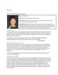 Careers Nurse Profile September 2010 - RPNAO