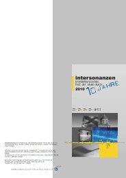intersonanzen wird veranstaltet vom Brandenburgischen ... - BVNM eV