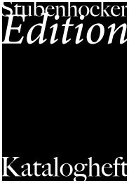 Editions-Katalog - Denis Bury