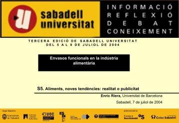 Envases activos: Productos de alta tecnología - Sabadell Universitat