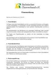 Finanzordnung des SCV