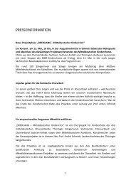 Presseinformation Dreiklang 2012-1 - Sächsischer Chorverband