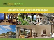 Amalfi Coast Vacation Packages