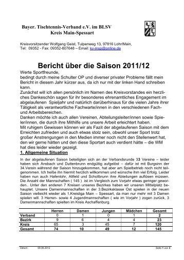 Bayer. Tischtennis-Verband e.V. im BLSV - Main-Spessart