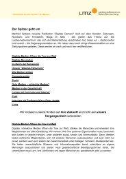 Stellungnahme zu Spitzers Thesen - Kreismedienzentrum Waldshut