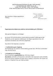 Organisatorische Abläufe der amtlichen Lehrerfortbildung mit LFB ...