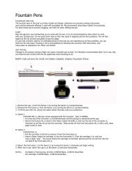 Fountain Pens - Faber-Castell