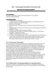 ARC – Arbeitsgruppe Innerklinische Reanimation (IR)