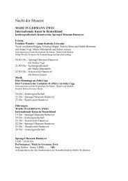 Nacht der Museen - Incontri - Institut für neue Musik