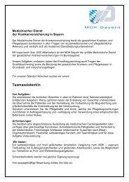 Medizinischer Dienst - MDK Bayern
