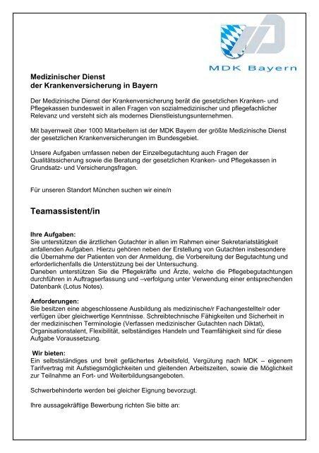 Medizinischer Dienst Mdk Bayern