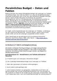 Persönliches Budget - Berufsorientierung in der Sonderpädagogik ...