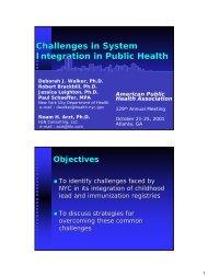 apha 2001 presentation final 2 - HLN Consulting, LLC