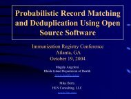 Probabilistic Record Matching and Deduplication Using Open ...