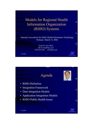 Models for Regional Health Information Organization (RHIO ...