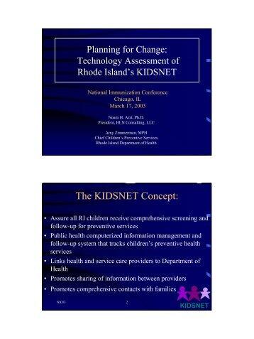 Technology Assessment of Rhode Island's KIDSNET