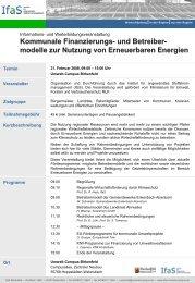 modelle zur Nutzung von Erneuerbaren Energien - gruene ...