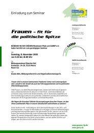 Frauen – fit für die politische Spitze - Grüne im Rhein-Pfalz-Kreis