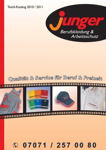 07071 / 257 00 80 - Andreas Junger Berufskleidung