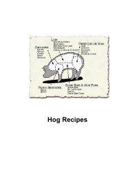 Hog Recipes - DDV Culinary