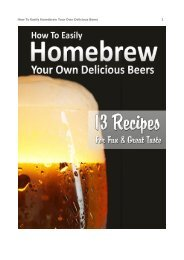 How To Easily Homebrew Your Own Delicious Beers 1 - DDV Culinary