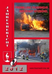 Jahresbericht 2012 der Stadtfeuerwehr Kitzbühel