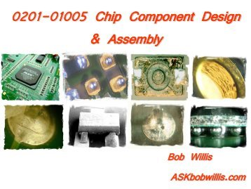 0201 Chip Component Design and Assembly Issues
