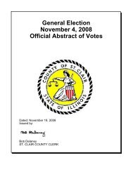General Election Official Abstract of Votes November 4, 2008