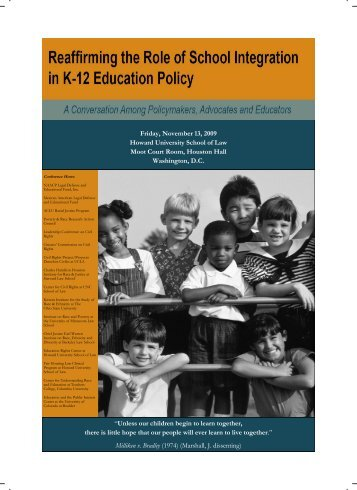 Reaffirming the Role of School Integration in K-12 Education Policy