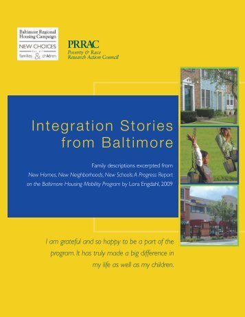 Integration Stories from Baltimore - Poverty & Race Research Action ...