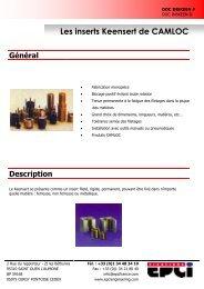INSERTS KEENSERT.pdf - EPCI ENGINEERING