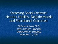Switching Social Contexts: Housing Mobility, Neighborhoods