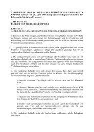 Anhang III Abschnitt IV der Verordnung EG Nr 8532004