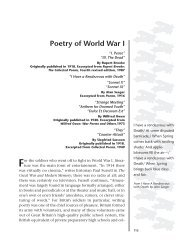 Poetry of World War I