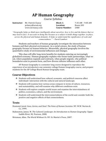ap human geography essay rubrics Ap human geography free-response human geography is more about the process of thinking than the memoriza the scoring rubric • the essays are assigned scores.